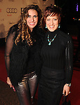 Lina Matar and Marci Mchana on the red carpet at Fashion Houston at the Wortham Theater Wednesday Nov.13,2013.  (Dave Rossman photo)