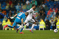 29.03.2014 SPAIN -  La Liga 13/14 Matchday 31th  match played between 5-0 Real Madrid CF vs Rayo Vallecano at Santiago Bernabeu stadium. The picture show Cristiano Ronaldo (Portuguese forward of Real Madrid)