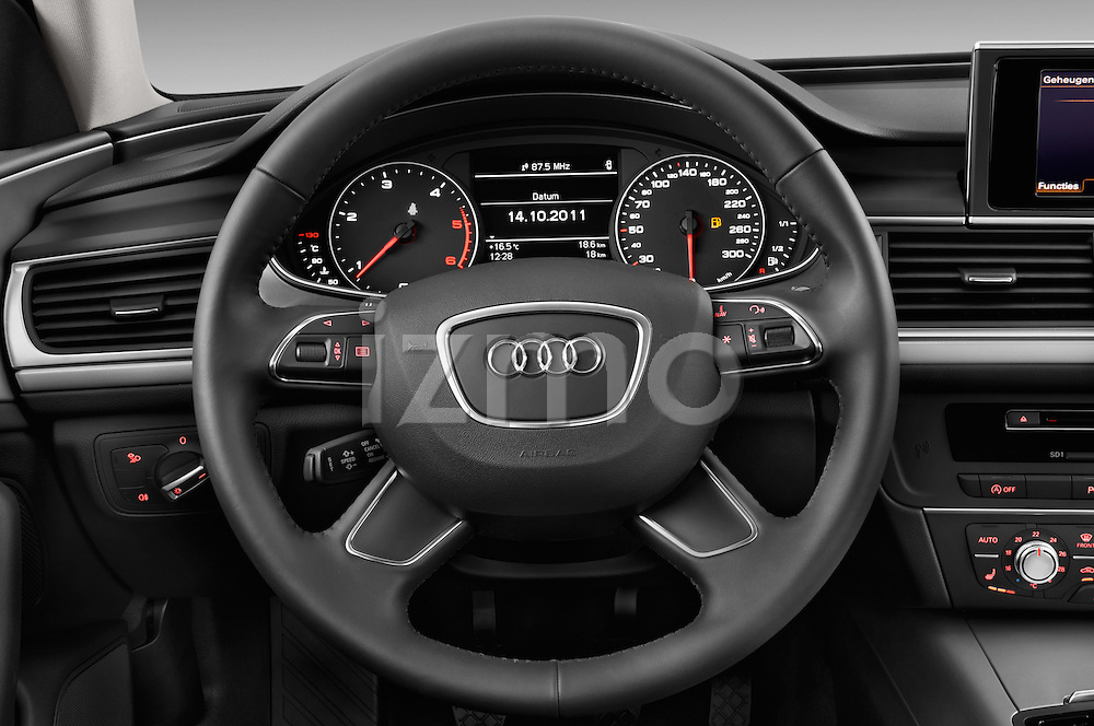 Steering wheel view of a 2014 Audi A6 AVUS 4 Door Sedan 2WD
