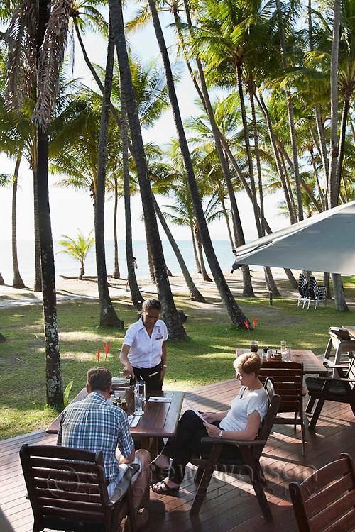 Beachfront dining at Far Horizons Restaurant.  Palm Cove, Cairns, Queensland, Australia