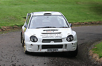 Jon Burn / Alan Stark near Junction 10 on the Gleaner Oil & Gas Cooper Park Special Stage 2 of the Gleaner Oil & Gas Speyside Stages Rally 2012, Round 6 of the RAC MSA Scotish Rally Championship which was organised by The 63 Car Club (Elgin) Ltd and based in Elgin on 4.8.12..........