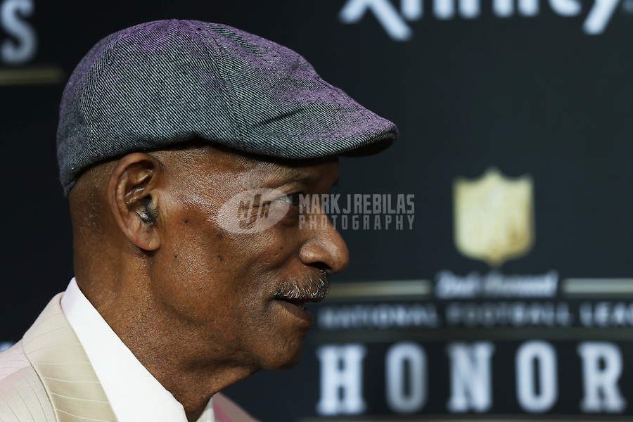 Feb. 2, 2013; New Orleans, LA, USA: Oakland Raiders defensive backfield coach Willie Brown on the red carpet prior to the Super Bowl XLVII NFL Honors award show at Mahalia Jackson Theater. Mandatory Credit: Mark J. Rebilas-USA TODAY Sports