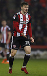 Lee Evans of Sheffield Utd during the Championship match at Bramall Lane Stadium, Sheffield. Picture date 02nd April, 2018. Picture credit should read: Simon Bellis/Sportimage