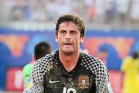 RAVENNA, ITALIA, 08 DE SETEMBRO DE 2011 - COPA DO MUNDO DE BEACH SOCCER - <br /> <br /> PORTUGAL X SENEGAL-  Paulo Graça goleiro do Portugal durante de partida contra a Senegal, válida <br /> <br /> pelas quartas de final da Copa do Mundo de Beach Soccer, no Estádio Del Mare, em <br /> <br /> Ravenna, Itália, nesta quinta-feira (8). FOTO: VANESSA CARVALHO - NEWS FREE