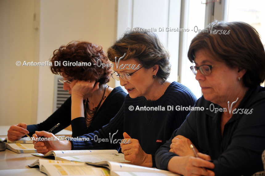 Corso di tedesco.German course. Insegnante Dagmar Palm..Upter. L' Università popolare di Roma si occupa dell' apprendimento permanente degli adulti.Popular University of Rome is responsible for Life Long Learning.