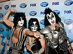 Kiss - Paul Stanley, Eric Singer and Gene Simmons  at the 2009 American Idol Finale at the Nokia Theatre in Los Angeles, May 20th 2009...Photo by Chris Walter/Photofeatures