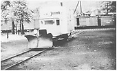 RGS Goose #2 with wedge plow in Durango yards.<br /> RGS  Durango, CO  ca. 1940