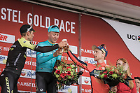 Cheers!<br /> <br /> 1st place: Michael Valgren Andersen (DEN/Astana)<br /> 2nd place: Roman Kreuziger (CZE/Mitchelton Scott)<br /> 3th place: Enrico Gasparotto (ITA/Bahrain Merida)<br /> <br /> <br /> 53th Amstel Gold Race (1.UWT)<br /> 1 Day Race: Maastricht > Berg en Terblijt (263km)
