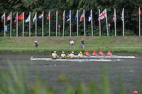 Amsterdam, NETHERLANDS,LTU ROU BM4-,  2011 FISA U23 World Rowing Championships, Wednesday, 20/07/2011 [Mandatory credit:  Intersport Images].