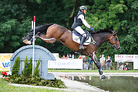 BEL-Lara de Liedekerke-Meier rides Alpaga d'Arville during the Cross Country at the 2017 POL-FEI European Eventing Championship, Strzegom, Poland. Saturday 19 August. Photo Copyright: Libby Law Photography
