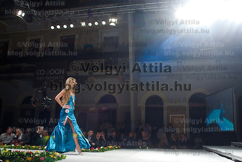Ivett Venczlik attends the Miss Hungary 2010 beauty contest held in Budapest, Hungary on November 29, 2010. ATTILA VOLGYI