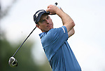 6 September 2008:   Jim Furyk tees off on the fifth hole in the third round of play at the BMW Golf Championship at Bellerive Country Club in Town & Country, Missouri, a suburb of St. Louis, Missouri. Furyk was the leader after the conclusion of round two with a score of 62.  After the first nine holes of the 18-hole third round, Furyk was 11 under-par.  The BMW Championship is the third event of the Fed Ex Cup and the top 30 finishers will qualify for the next event of the championship.