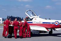 Pilots meeting at Canadian Forces Snowbirds on Display, Abbotsford International Airshow, BC, British Columbia, Canada