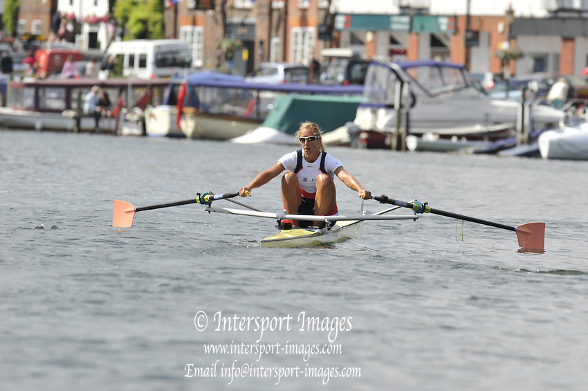 Henley, Great Britain. The Princes Toyal Challenge Cup. CZE W1X. Mirka KNAPKOVA.  Henley Royal Regatta. River Thames Henley Reach.  Friday   01/07/2011  [Mandatory Credit Peter Spurrier/ Intersport Images] . HRR