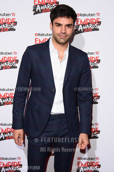 Sean Teale arriving for the Empire Awards 2018 at the Roundhouse, Camden, London, UK. <br /> 18 March  2018<br /> Picture: Steve Vas/Featureflash/SilverHub 0208 004 5359 sales@silverhubmedia.com