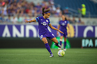 Orlando, Florida - Sunday, May 14, 2016: Orlando Pride midfielder Kristen Edmonds (12). Orlando Pride defender Kristen Edmonds (12) during a National Women's Soccer League match between Orlando Pride and New York Flash at Camping World Stadium.