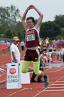 Kelly Sr. Dalton Huffman jumps to a runner-up finish in the Class 2 boys triple jump with a best of 43-10.5.