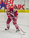 25 November 2014: University of Massachusetts Minutemen Forward Frank Vatrano, a Redshirt Sophomore from East Longmeadow, MA, in action against the University of Vermont Catamounts at Gutterson Fieldhouse in Burlington, Vermont. The Cats defeated the Minutemen 3-1 to sweep the 2-game, home-and-away Hockey East Series. Mandatory Credit: Ed Wolfstein Photo *** RAW (NEF) Image File Available ***