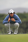 Rory McIlroy lines up his putt on the 10th green on day three of the 3 Irish Open, at the Killarney Golf and Fishing Club, Killarney, Ireland.Picture Fran Caffrey/www.golffile.ie.