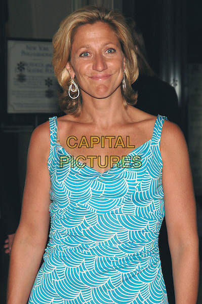 "EDIE FALCO.Premiere of her new film ""Good Night, And Good Luck"" at Avery Fisher Hall at Lincoln Center, part of the 43rd New York Film Festival, New York, New York.   .Photo Credit: Patti Ouderkirk AdMedia/Capital Pictures.Ref: PO.September 23rd, 2005.half length blue dress pattern.www.capitalpictures.com.sales@capitalpictures.com.© Capital Pictures."