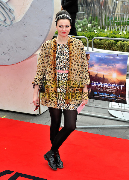LONDON, ENGLAND - MARCH 30: Gizzi Erskine attends the European premiere of 'Divergent' at Odeon Leicester Square on March 30, 2014 in London, England.<br /> CAP/PP/GM<br /> &copy;Gary Mitchell/PP/Capital Pictures