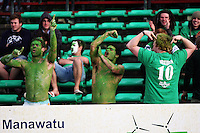 Manawatu fans celebrate during the Air NZ Cup rugby match between Manawatu Turbos and Counties-Manukau Steelers at FMG Stadium, Palmerston North, New Zealand on Sunday, 2 August 2009. Photo: Dave Lintott / lintottphoto.co.nz