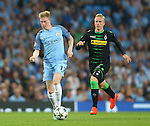Kevin De Bruyne of Manchester City during the UEFA Champions League Group C match at The Etihad Stadium, Manchester. Picture date: September 14th, 2016. Pic Simon Bellis/Sportimage