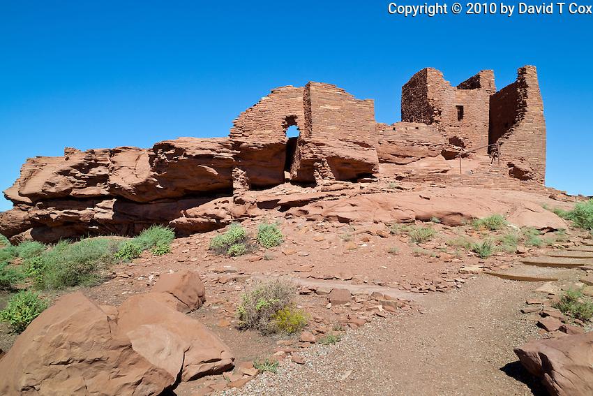 Wukoki Pueblo, Anasazi-Sinaguan, Wupatki Nat Monument, Arizona