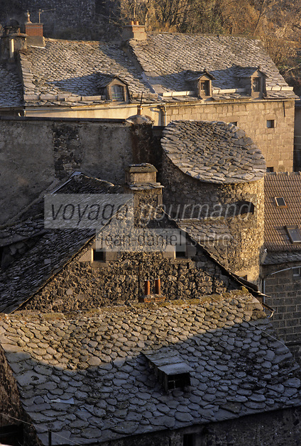 Europe/France/Auvergne/15/Cantal/Murat : Les toits du village
