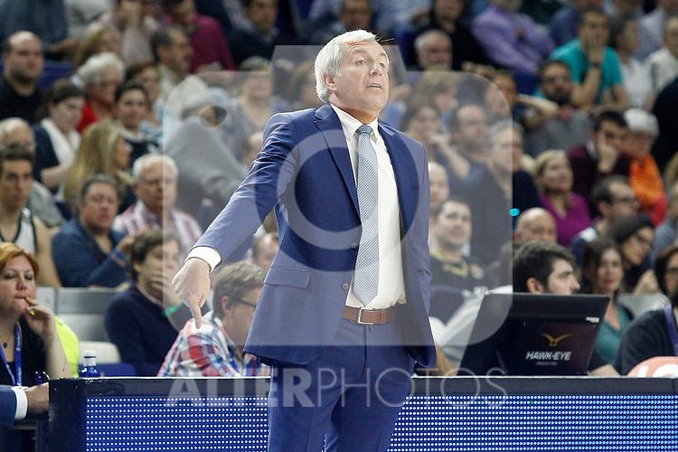 Fenerbahce Istambul's coach Zeljko Obradovic during Euroleague, Regular Season, Round 29 match. March 31, 2017. (ALTERPHOTOS/Acero)