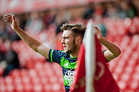 NOTTINGHAM, ENGLAND - JULY 25:  Matt Grimes in action during the pre season friendly match between Nottingham Forest and Swansea City at The City Ground on July 25, 2015 in Nottingham, England.  (Photo by Aled Llywelyn / Athena Pictures )
