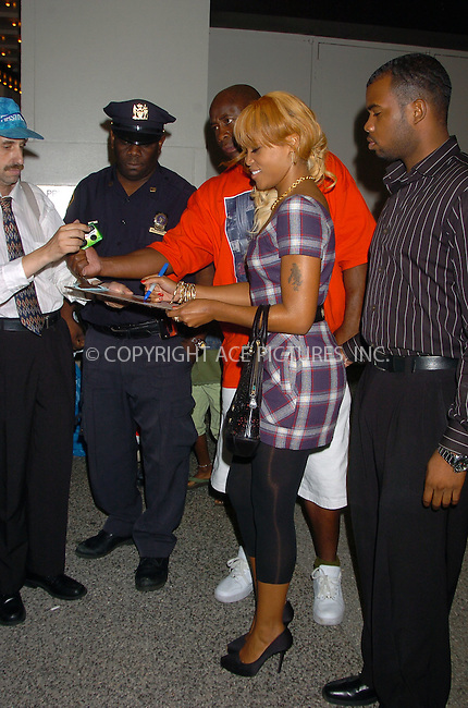WWW.ACEPIXS.COM . . . . .  ....September 6, 2006, New York City. ....Eve signs autographs to her fans as she exits MTV's TRL studios. ....Please byline: AJ Sokalner - ACEPIXS.COM..... *** ***..Ace Pictures, Inc:  ..(212) 243-8787 or (646) 769 0430..e-mail: info@acepixs.com..web: http://www.acepixs.com