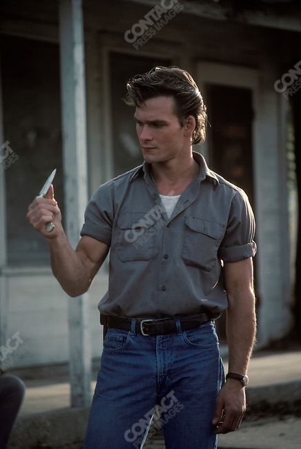 """Patrick Swayze, actor, on the set of """"The Outsiders"""", directed by Francis Ford Coppola. Tulsa, Oklahoma, March 1982."""