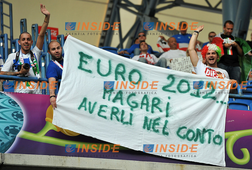 "tifosi iitaliani (Italia).Poznan 18/06/2012  """"Stadion Miejski"".Football calcio Europeo 2012 Italia Vs Irlanda.Football Calcio Euro 2012.Foto Insidefoto Alessandro Sabattini..."
