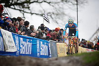 Thijs Aerts (BEL) on his way to becoming Juniors World Champion<br /> <br /> 2014 UCI cyclo-cross World Championships