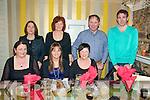 Staff of Killocrim National School , Listowel enjoying their Christmas party at theHorseshoe Bar & Restaurant on Friday night last. Front : Catherine O'Driscoll, Srah Heffernan & Emir Joy. Back : Mary McGrath, Marie Joy, Dan Joy & Neilie Keane-Stack.