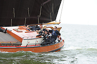 SKUTSJESILEN: LEMMER: Lemster Baai, 18-05-2012, Lemmer Ahoy, skûtsjesilen, skûtsje Langweer, Ut 'e Striid, schipper Jaap Zwaga, ©foto Martin de Jong