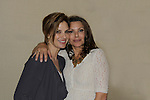 """Megan Ward """"Kate Howard"""" poses with Kari Wuhrer (both GH) at the Chiller Theatre Spring Extravaganza was held on April 27, 2014 at the Parsippany Sheraton Hotel in Parsippany, New Jersey.  (Photo by Sue Coflin/Max Photos)"""
