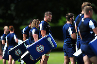 Charlie Ewels of Bath Rugby looks on. Bath Rugby pre-season training session on August 9, 2016 at Farleigh House in Bath, England. Photo by: Patrick Khachfe / Onside Images