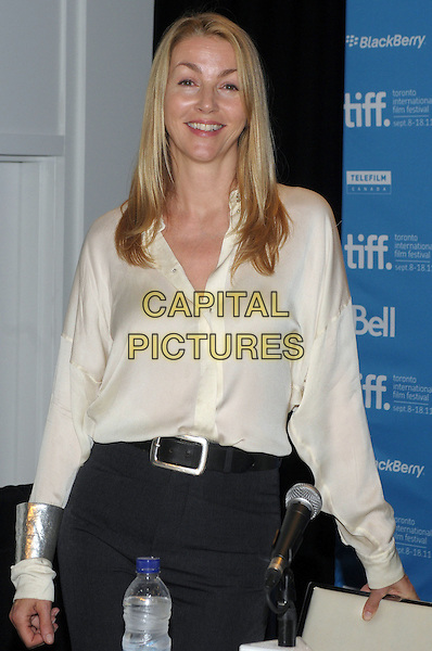 "Rebeccca Frayn.""The Lady"" Press Conference - 2011 Toronto International Film Festival held at TIFF Bell Lightbox, Toronto, Ontario, Canada..September 12th, 2011.half length white blouse black belt.CAP/ADM/BPC.©Brent Perniac/AdMedia/Capital Pictures."