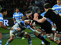 Kieran Read in action during the Rugby Championship match between the NZ All Blacks and Argentina Pumas at Yarrow Stadium in New Plymouth, New Zealand on Saturday, 9 September 2017. Photo: Dave Lintott / lintottphoto.co.nz