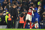 10th January 2018, Stamford Bridge, London, England; Carabao Cup football, semi final, 1st leg, Chelsea versus Arsenal; A dejected Chelsea Manager Antonio Conte at the final whistle