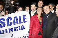 NAPOLI FRANCESCA PASCALE FIDANZATA DI SILVIO BERLUSCONI..NAPOLI 25/03/09 L'ARRIVO DI SILVIO BERLUSCONI ALL'HOTEL VESUVIO.NELLA FOTO INSIEME ALLA CANDIDATA ALLA PROVINCIA FRANCESCA PASCALE