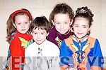 STAGE: Taking to the stage at the Causeway Feis in Causeway Comprehensive School, on Sunday were: Hannah Lix 9Brandon), Tylor Browne Ardfert), Katelyn Diggins (Ballyduff) and Valerie Kiely (Causeway).......................
