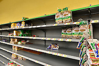 MIRAMAR, FL - OCTOBER 06: view of the bread shelve inside Walmart in Miramar, Florida in preparation for the landfall of Hurricane Matthew on October 6, 2016 in Miramar, Florida. The hurricane is expected to make landfall sometime this evening or early in the morning as a possible category 4 storm.Credit: MPI10 / MediaPunch