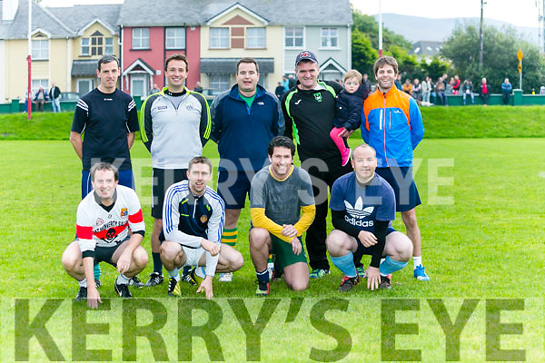 The Eoin Kelliher team at the Inter Firm seven a-side soccer blitz  in aid of local charities at the Low Field, Tralee on Saturday