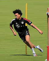 13th July 2020, Sebenersatrsse, Munich, Germany;  Niklas Suele FCB and Leroy Sane new signing for FCB