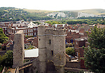 View over the town from Lewes Castle, East Sussex, England