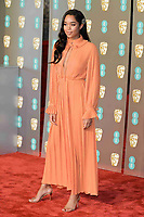 LONDON, UK - FEBRUARY 10:  Laura Harrier at the 72nd British Academy Film Awards held at Albert Hall on February 10, 2019 in London, United Kingdom. Photo: imageSPACE/MediaPunch<br /> CAP/MPI/IS<br /> ©IS/MPI/Capital Pictures