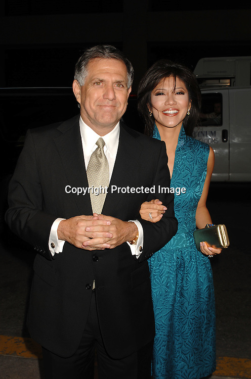Les Moonves and wife Julie Chen..arriving at The William Morris Party to celebrate the Network Upfront Week on May 14, 2007 at The Four Seasons Restaurant. ..Robin Platzer, Twin Images........212-935-0770